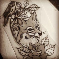 Traditional Fox Tattoo Designs Google Search With Images Fox Tattoo Fox Tattoo Design Traditional Tattoo