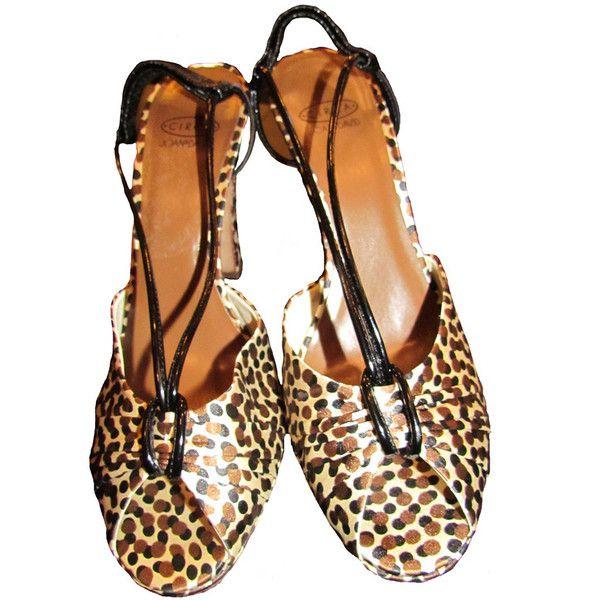 Joan & David Circa Leopard Print Fabric Heels, found on polyvore.com