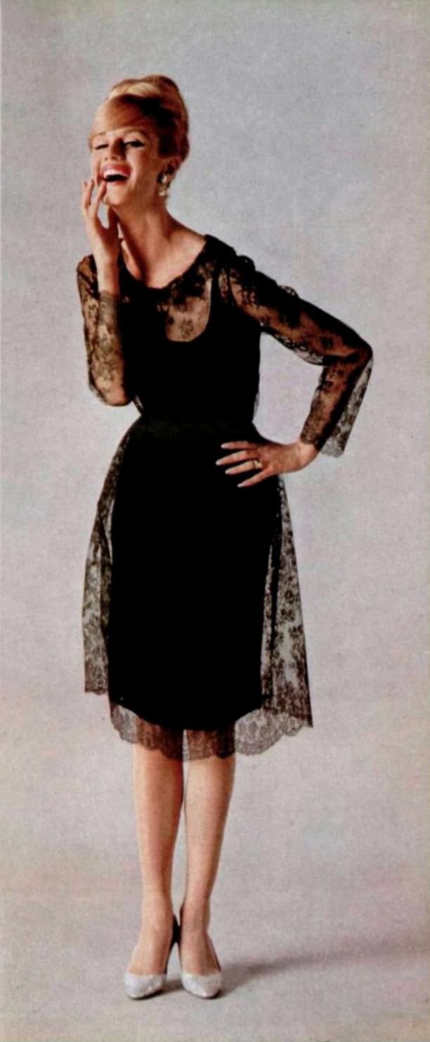 L Officiel Magazine 1964 Sixties Fashion Cocktail Dress Vintage 60s Fashion [ 1481 x 612 Pixel ]