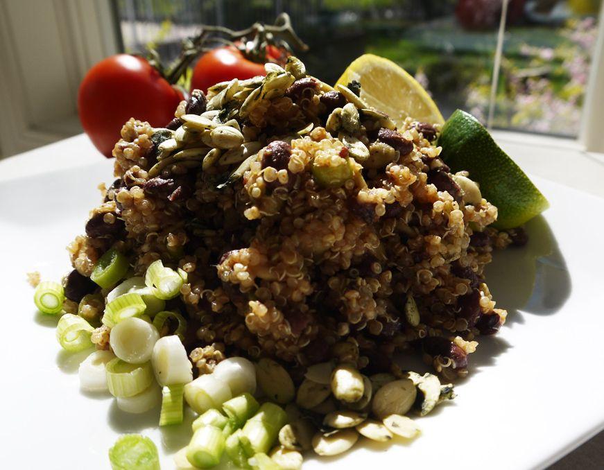 quinoa, black beans, pumpkin seeds...mmm