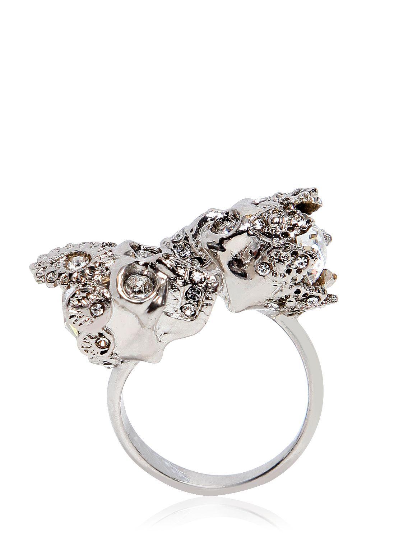 king skull ring - Metallic Alexander McQueen LRDuE