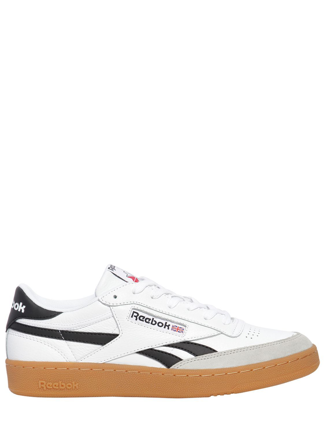 REEBOK REVENGE PLUS GUM LEATHER SNEAKERS.  reebok  shoes    7baf98c63