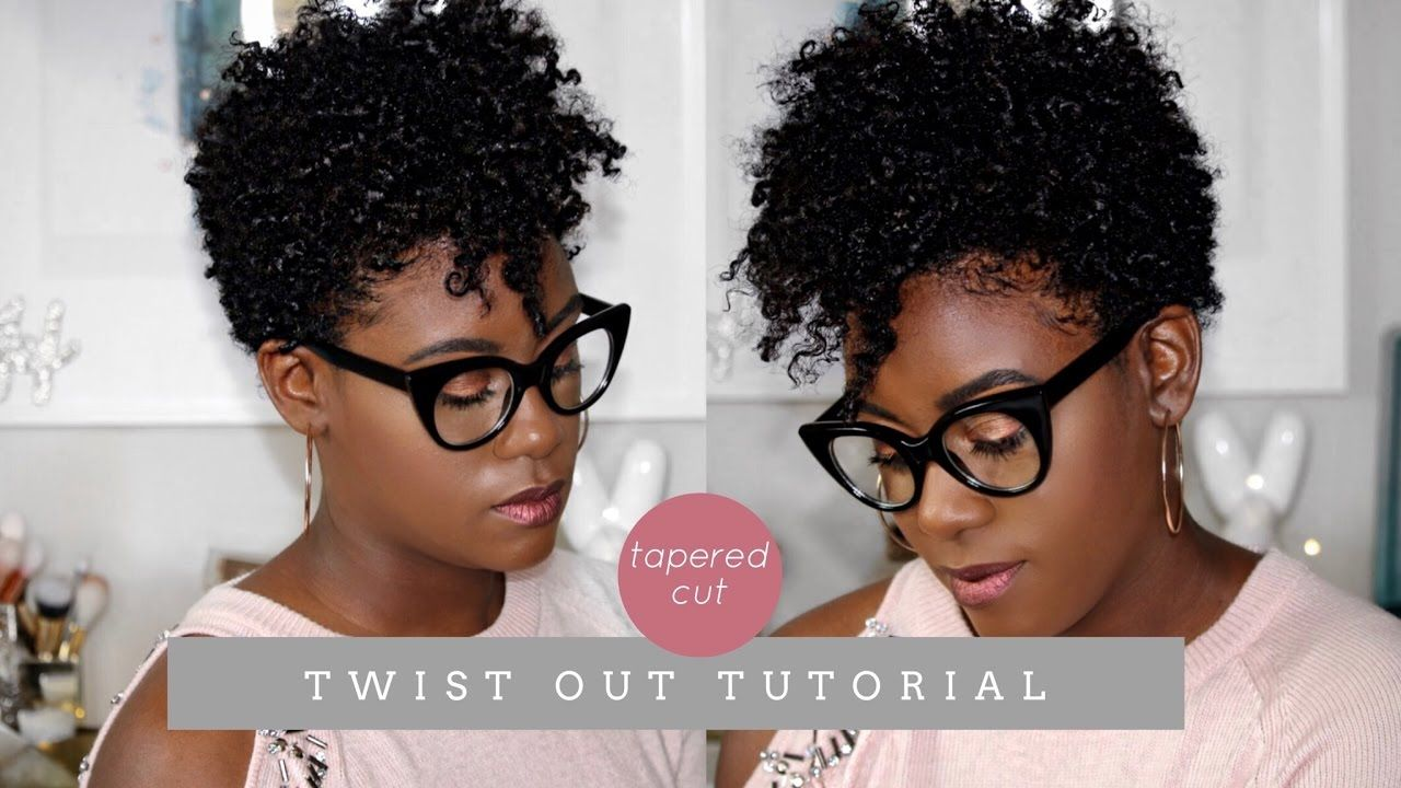 Natural hair tapered cut defined twist out tutorial iknowlee