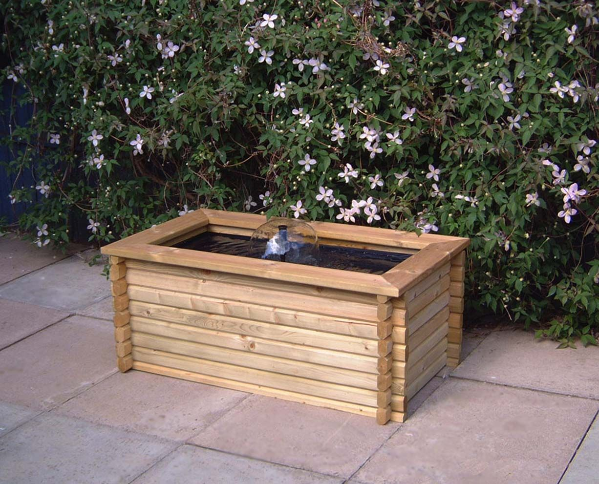 60 gallon rectangle pool water feature - Rectangle Pool With Water Feature