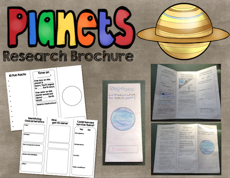 Planet Research Brochure Informational Writing And Astronomy
