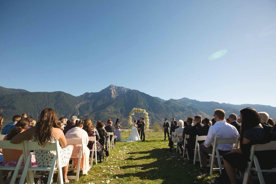 Outdoor wedding, Canadian wedding, mountain wedding
