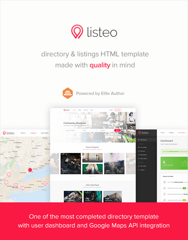 Listeo - Directory & Listings HTML Template #amp, #Directory