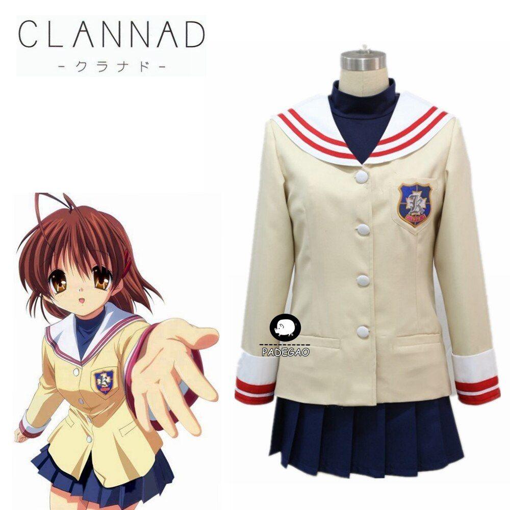 Anime clannad furukawa nagisa winter school uniforms dress