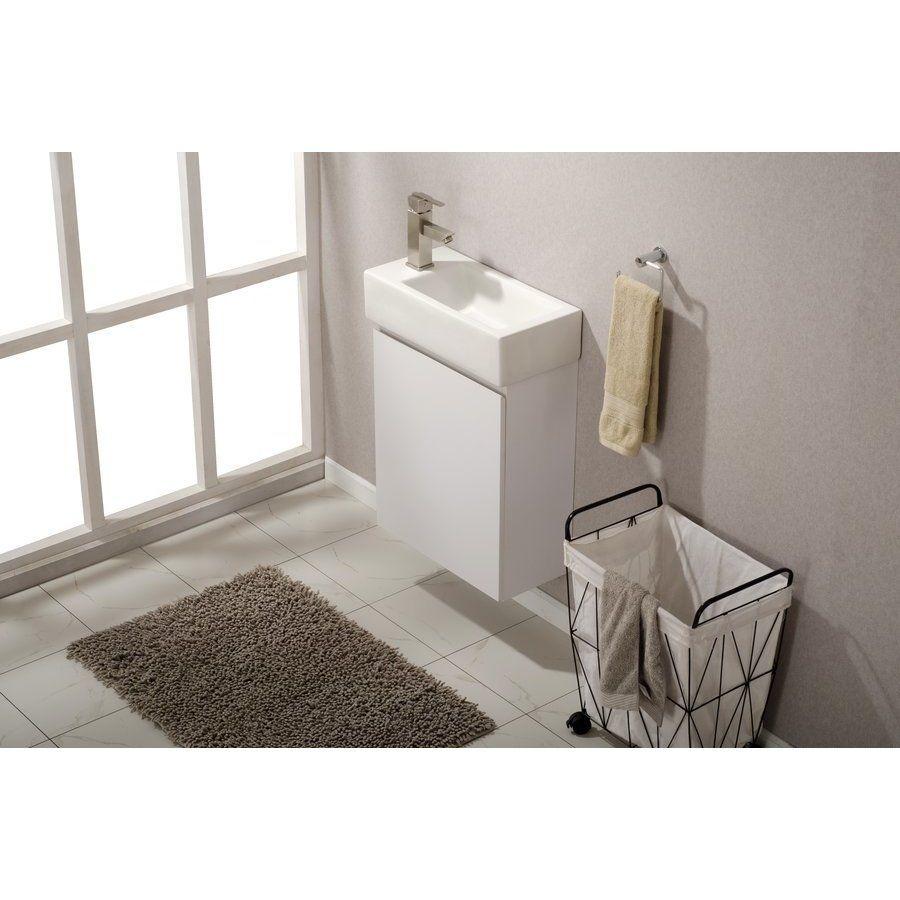 Design Element 20 Inch Breeze Single Sink Bathroom Vanity White S06 20 Wt In 2019 Single Sink Bathroom Vanity White Vanity Bathroom Bathroom Sink Vanity