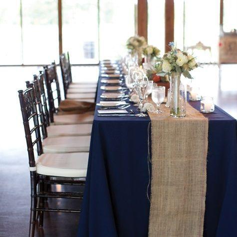 Sold On Blue Table Cloths Burlap Runner