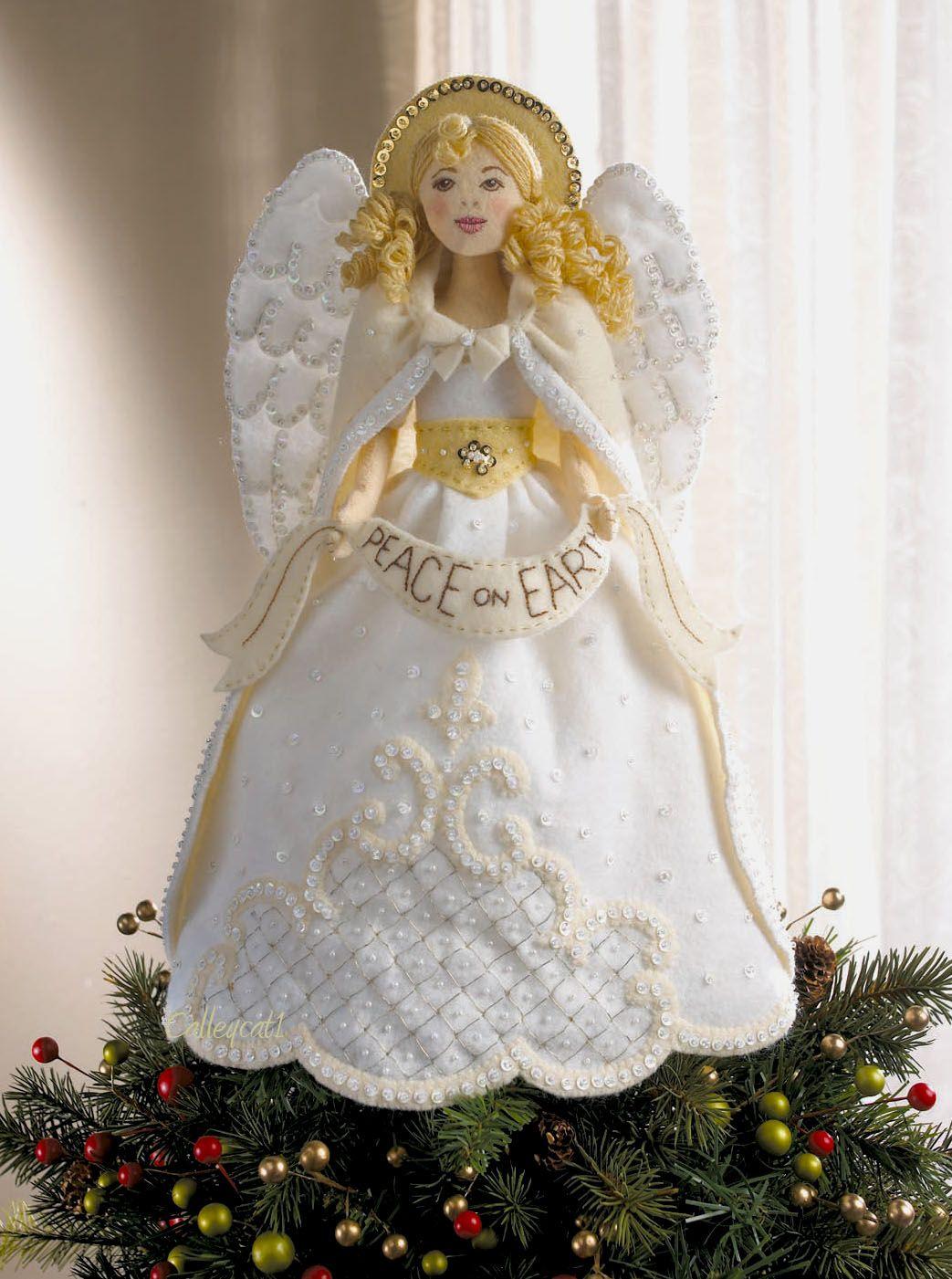 Angel Tree Topper Bucilla Christmas Felt Kit 86072 Diy