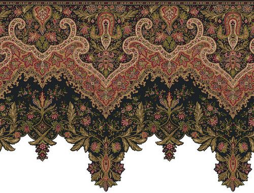 Ornate And Detailed Large Victorian Wallpaper Border Or Frieze Victorian Wallpaper Wallpaper Companies Paisley Wallpaper