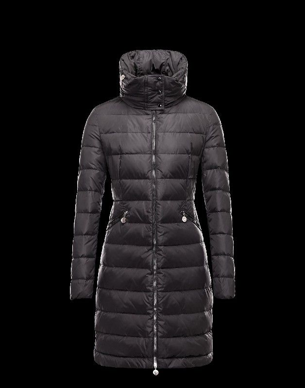 moncler womens down long flamme jacket