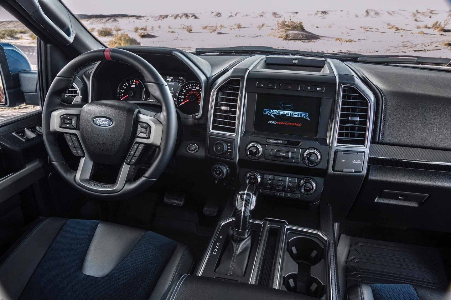 Interior View Of Raptor Showing Steering Wheel Front Seats And Dashboard Ford Velociraptor Ford Raptor Ford F150 Raptor
