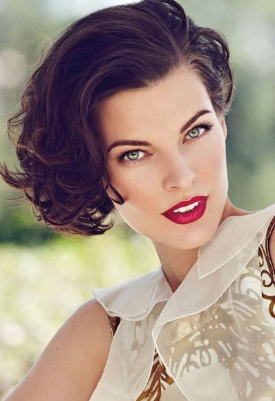 Outstanding Milla Jovovich Nee Milica Jovovic Born 12 17 1975 American Model Hairstyle Inspiration Daily Dogsangcom