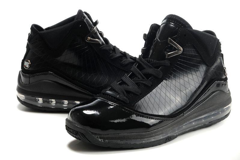 Nike Air Max Lebron vii all black shoes memory foam sneakers