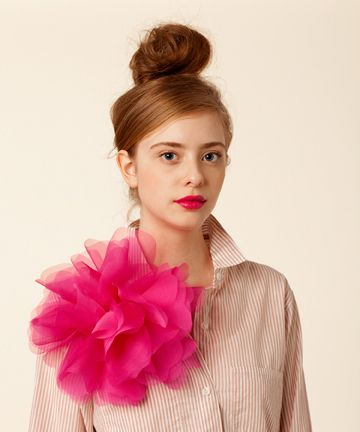 Lately Loving Mini Poms Flower Corsage Organza Flowers Corsage