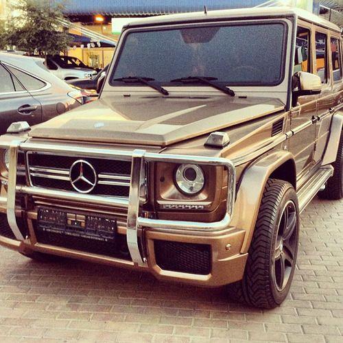 Gold Mercedes G Wagon Roskoshnyj Avtomobil Roskoshnye