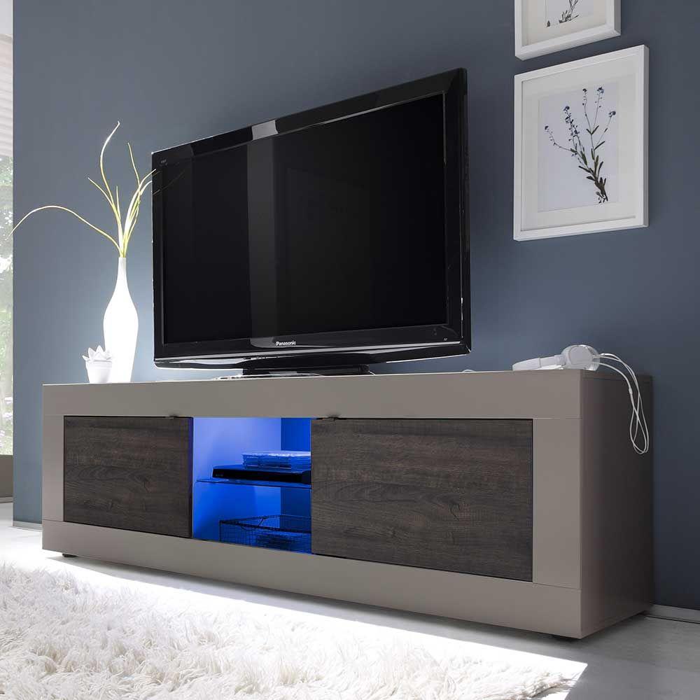 Tv Lowboard In Beige Wenge Led Beleuchtung Jetzt Bestellen Unter