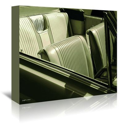 Americanflat Bucket Seats by Graffi Tee Studios Photographic Print on Wrapped Canvas Size: