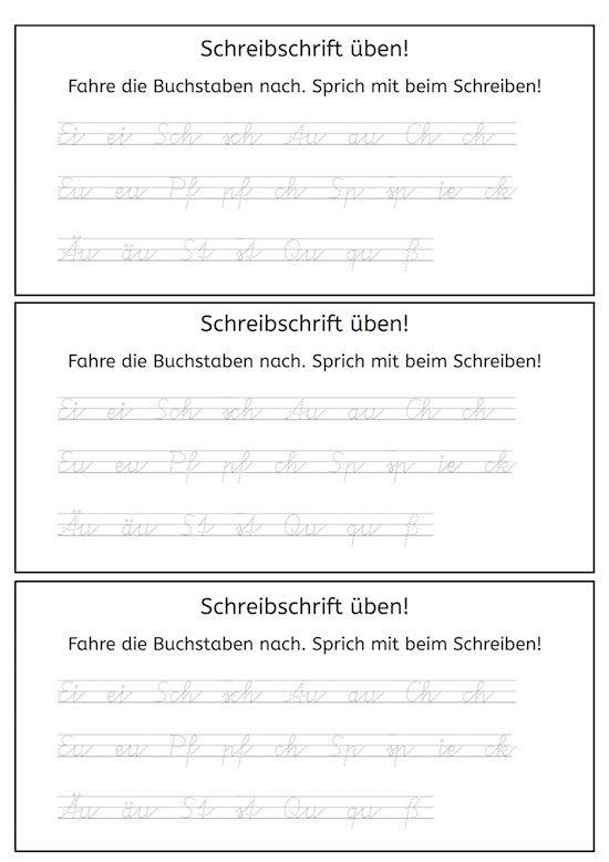 Vereinfachte Ausgangsschrift - | Schule | Pinterest | Förderschule ...