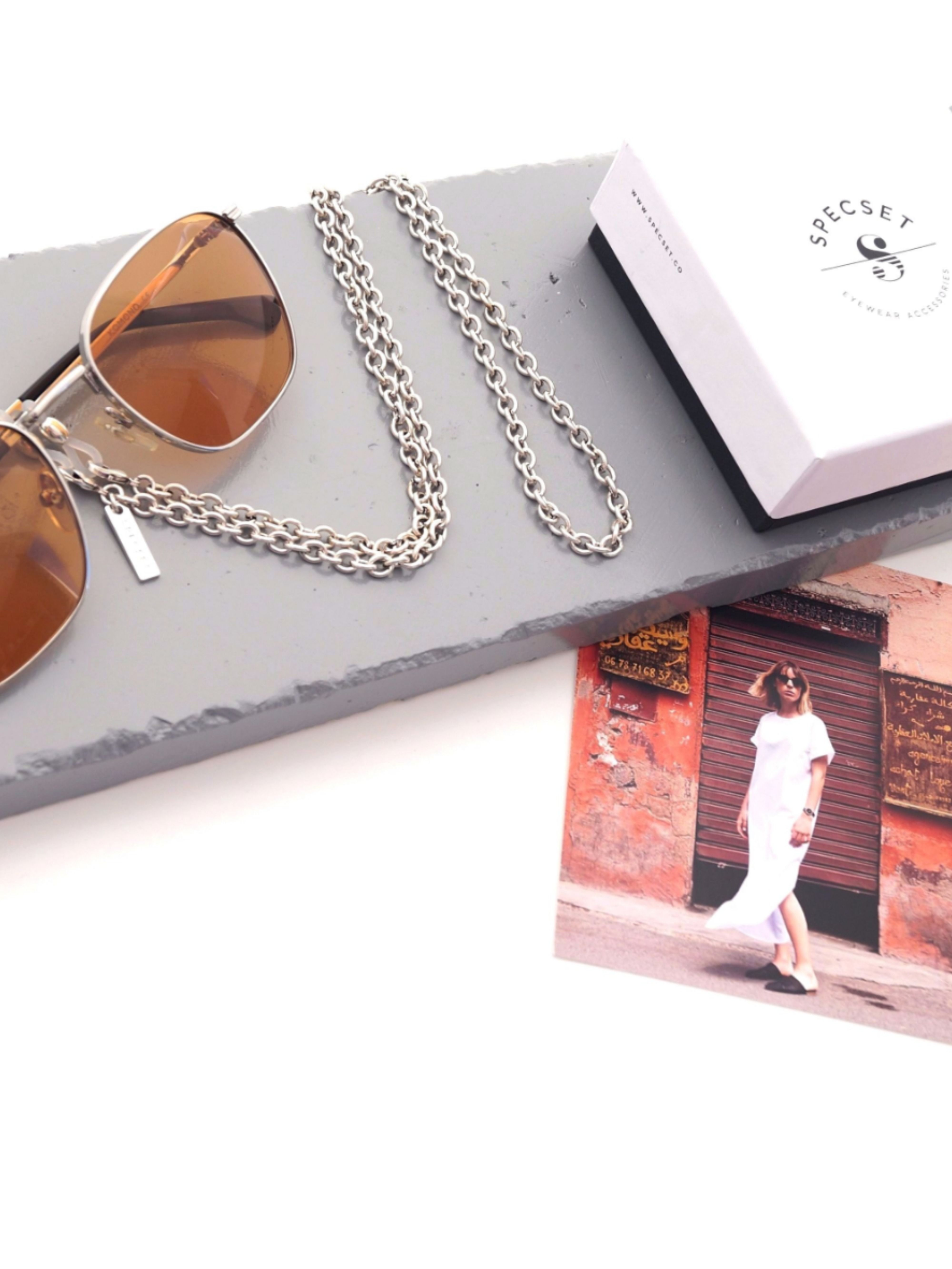 Minimalistic Eyeglass Chain for Men and Women with a Cross SPECSET Unisex Eyewear Accessories