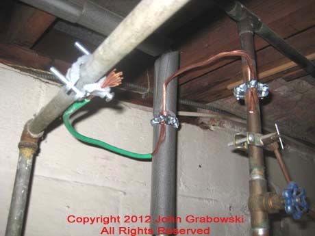 bonding jumper between cold water, hot water, and gas pipe ... water heater wiring for bonding electric hot water heater wiring