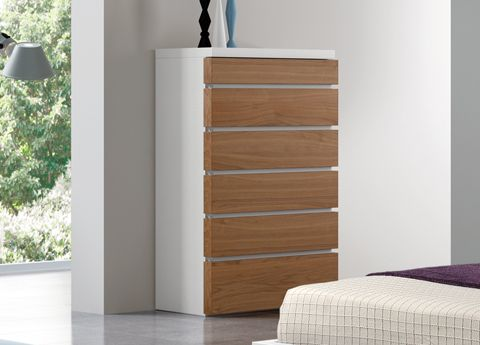 ****Aris Tall Chest Of Drawers   Modern Chests Of Drawers U0026 Bedroom  Furniture Icl Delivery W X H X D Grey Mineral Or White Lacquer U0026 Walnut