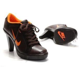 Nike 2012 Heels Dunk Low Womens Shoes New Brown Orange Discount Sale