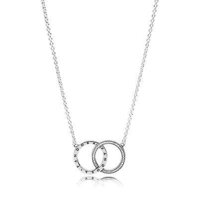 Pandora Women Gold Plated Pendant Necklace - 580515CZ-45 UPsHw