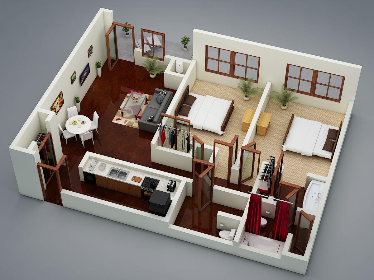 3d floor plan4 architecture 3d floor plan in 2019 for Muebles capitol