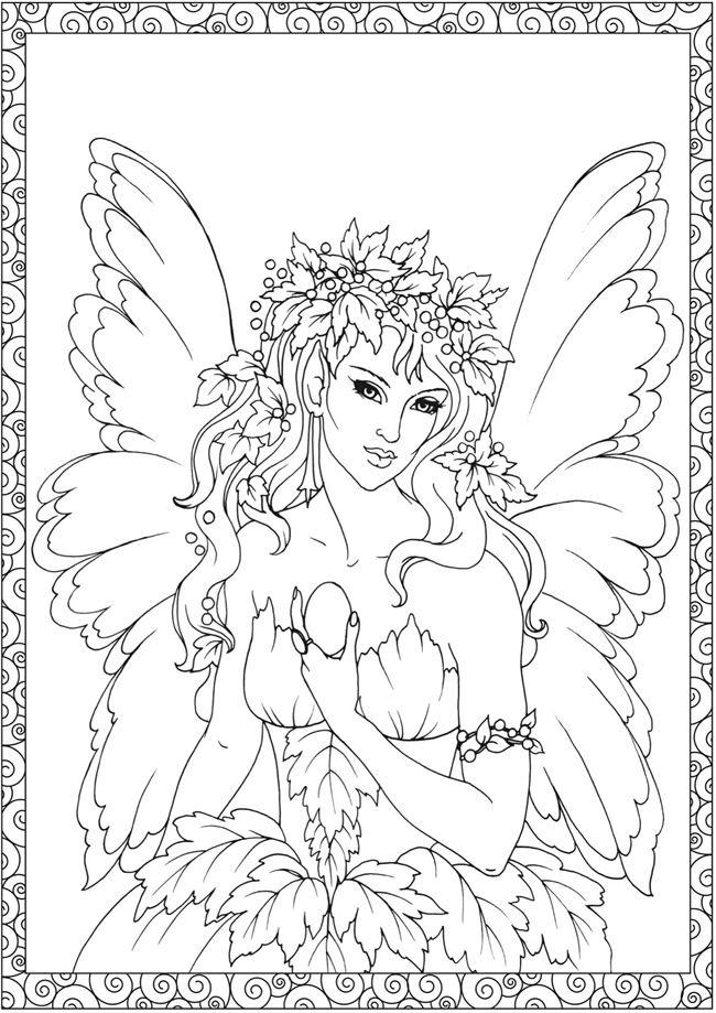 Creative Haven Enchanted Fairies Coloring Book by: Barbara Lanza ...