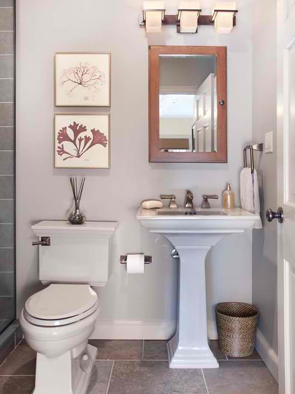 Bathroom Pedestal Sink Storage Cabinet Small Half Bathrooms Simple Bathroom Small Bathroom Decor