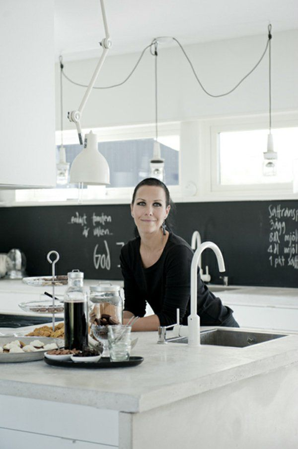 frische küchenrückwand ideen einfache schwarze Tafel Tafel - spritzschutz mit kuchenruckwand 85 effektvolle ideen