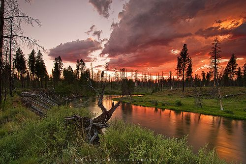 Lapine State Park Deschutes River 2012 Moonbeams And