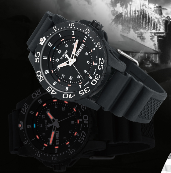 Traser p6600 elite red tritium watch traser h3 p6600 elite red watches pinterest tritium for Military grade watches