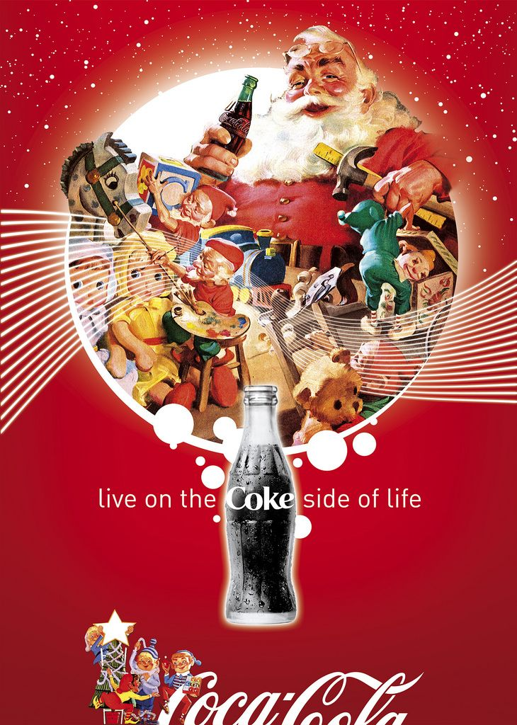 Coca~Cola - Coke Side of Life: Coca-Cola Art Remix | #design #art #Cocacola #coke #retro #Christmas #classic #vintage #santa