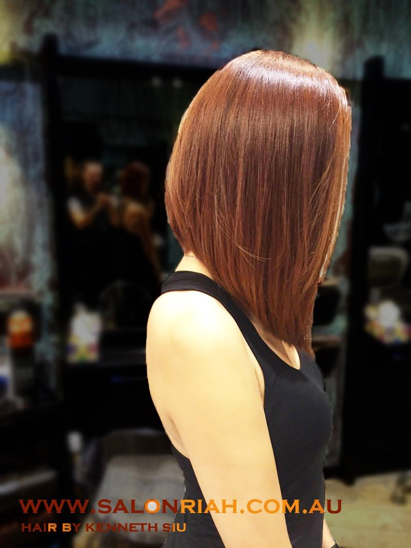 Kenneth Siu - Concave Long Bob  Hair styles, Medium length hair