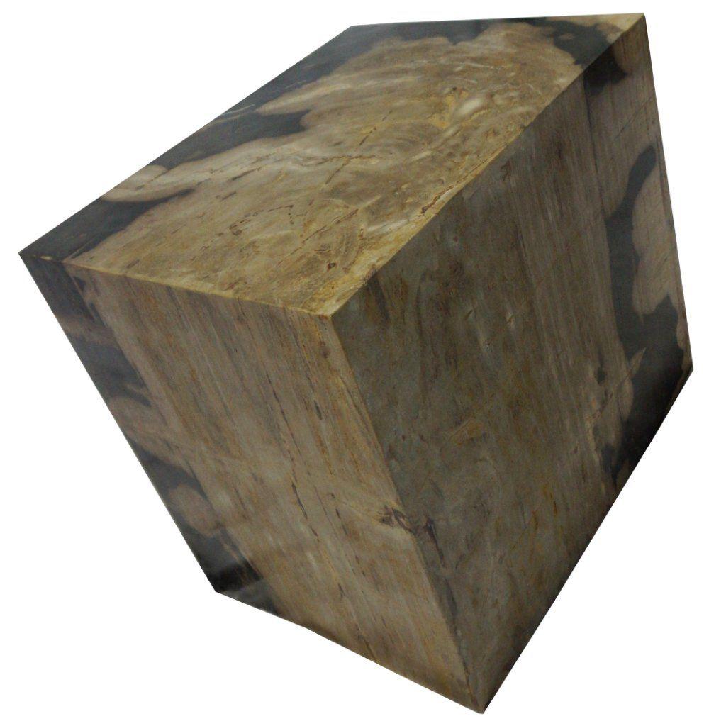 """POLISHED RECTANGULAR PETRIFIED WOOD STOOL Dimensions 20"""" (W) x 15"""" (D) x 19"""" (H) Polished Rectangular Petrified Wood Stool"""