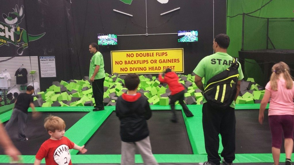 Foam Pit fun at Launch Trampoline Park - Hartford, CT