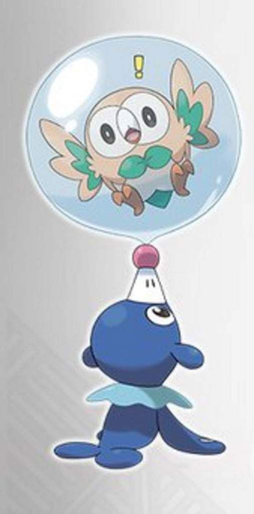 pokemon sun and moon official starters rowlet - Google Search