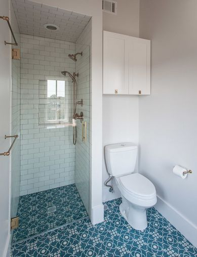 stand up shower | row house - bathroom | pinterest
