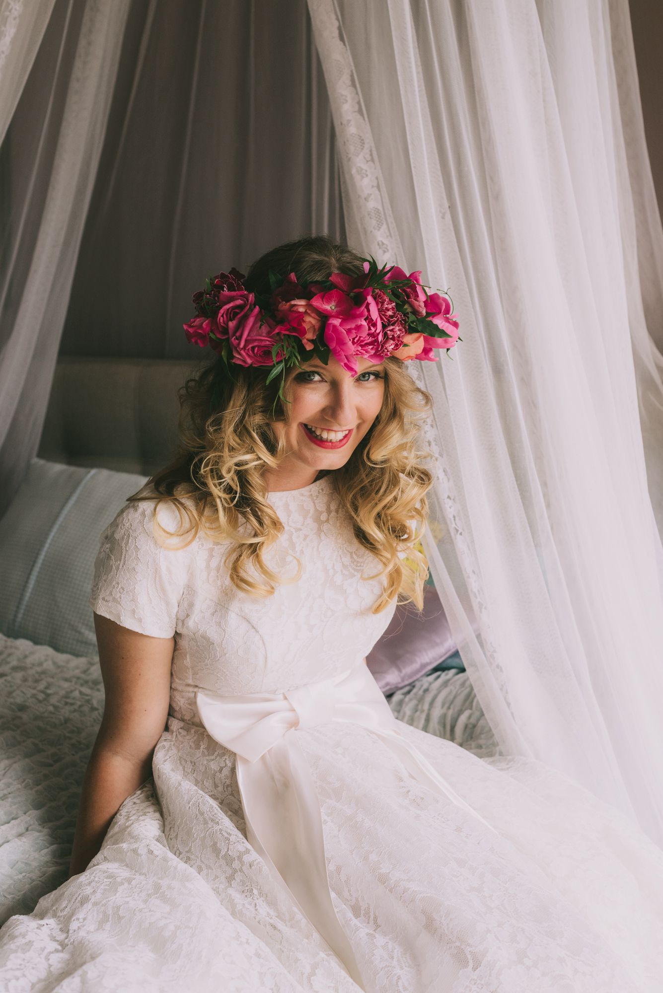 Real flower crown and vintage dress from hello golden etsy anna real flower crown and vintage dress from hello golden etsy izmirmasajfo