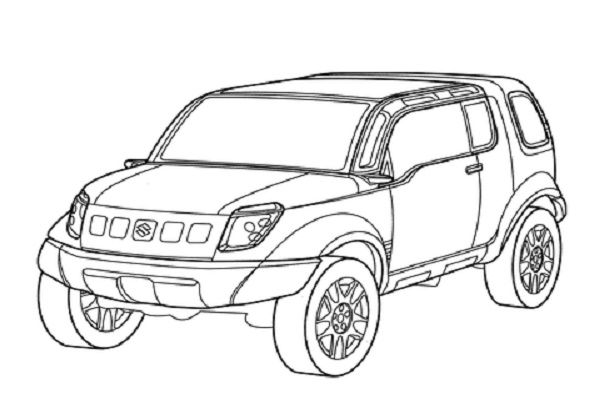 Suzuki Landbreeze Coloring Page Japan Has Not Escaped The Suv Craze But On This Crowded Archipelago With Little Or No Wide Open Wil Small Suvs Suzuki Toy Car
