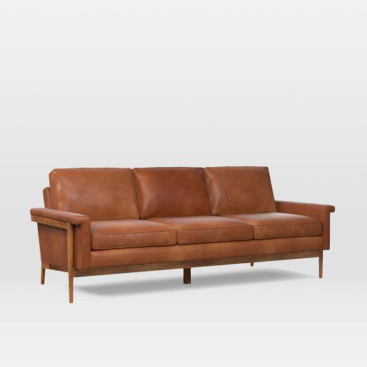 20 Premium Leather Sofa Mid Century Black Leather Sofa Set