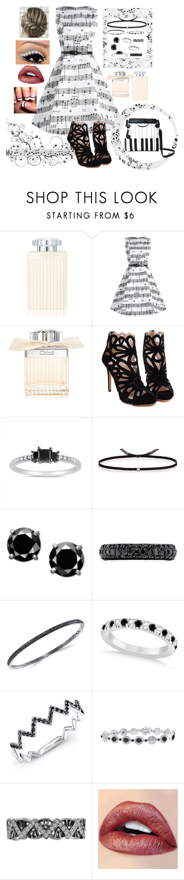 """""""Musical Life with Piano Satchel"""" by snowflakeunique ❤ liked on Polyvore featuring Chloé, Miadora, Ileana Makri, Effy Jewelry, Allurez and vintage"""