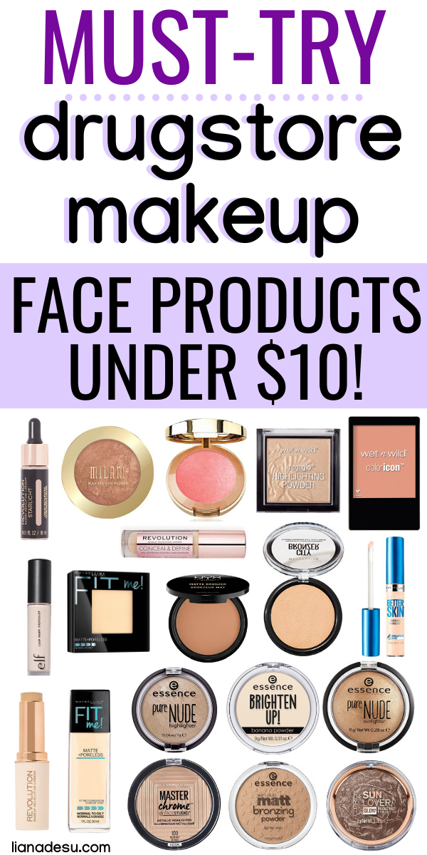 Must Have Drugstore Makeup Face Products Under 10 Best Drugstore Makeup Drugstore Makeup Face Makeup