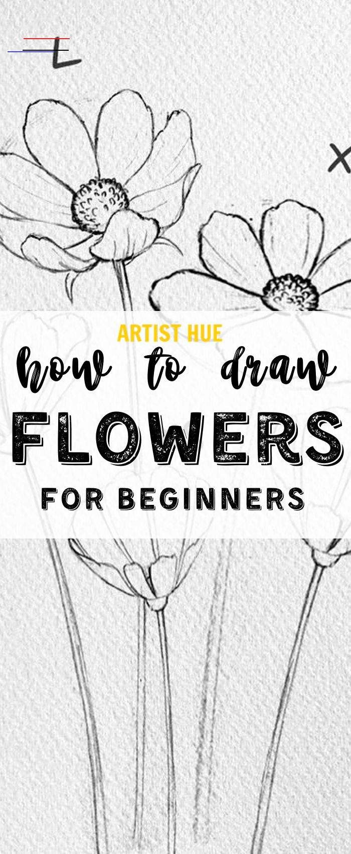 How to draw flowers step by step for beginners How to draw flowers step by step for beginners  <br> How to draw flowers step by step for beginners | how to draw flowers watercolor pencil | how to draw flowers realistic easy sketches #howtodraw #howtodrawflowers #artisthue