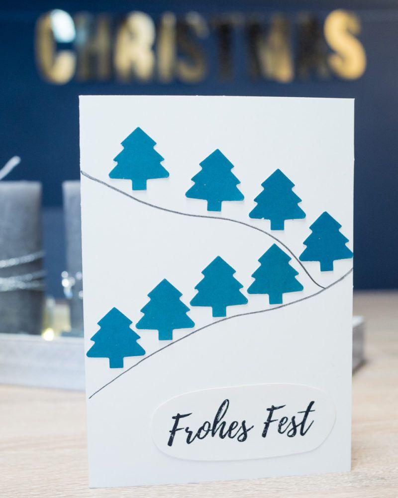 Weihnachtskarten selber machen - 3 einfache Ideen ...