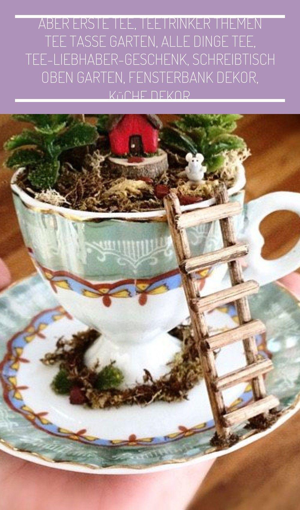 Aber Erste Tee Teetrinker The In 2020 Diy Fairy Fairy Garden Designs Fairy Garden Diy